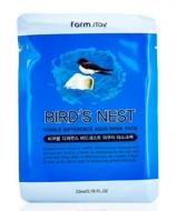 Маска с экстрактом ласточкиного гнезда FARMSTAY Difference bird`s nest visible difference mask sheet 23мл: фото