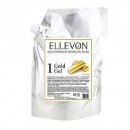 Альгинатная маска ELLEVON с золотом (гель + коллаген) 1000г: фото
