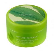 Крем очищающий с экстрактом зеленого чая NATURE REPUBLIC Real Nature Cleansing Cream (Green Tea) 200мл: фото