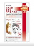 Маска тканевая c красным женьшенем Mijin Junico Crystal All-in-one Facial Mask Red ginseng 25г: фото